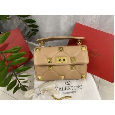 Стильная женская сумка Valentino цвет беж 2214