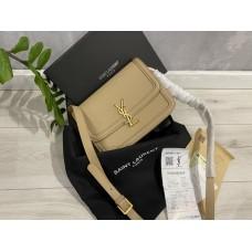 Женская сумка Saint Laurent YSL натуральная кожа беж арт 2203