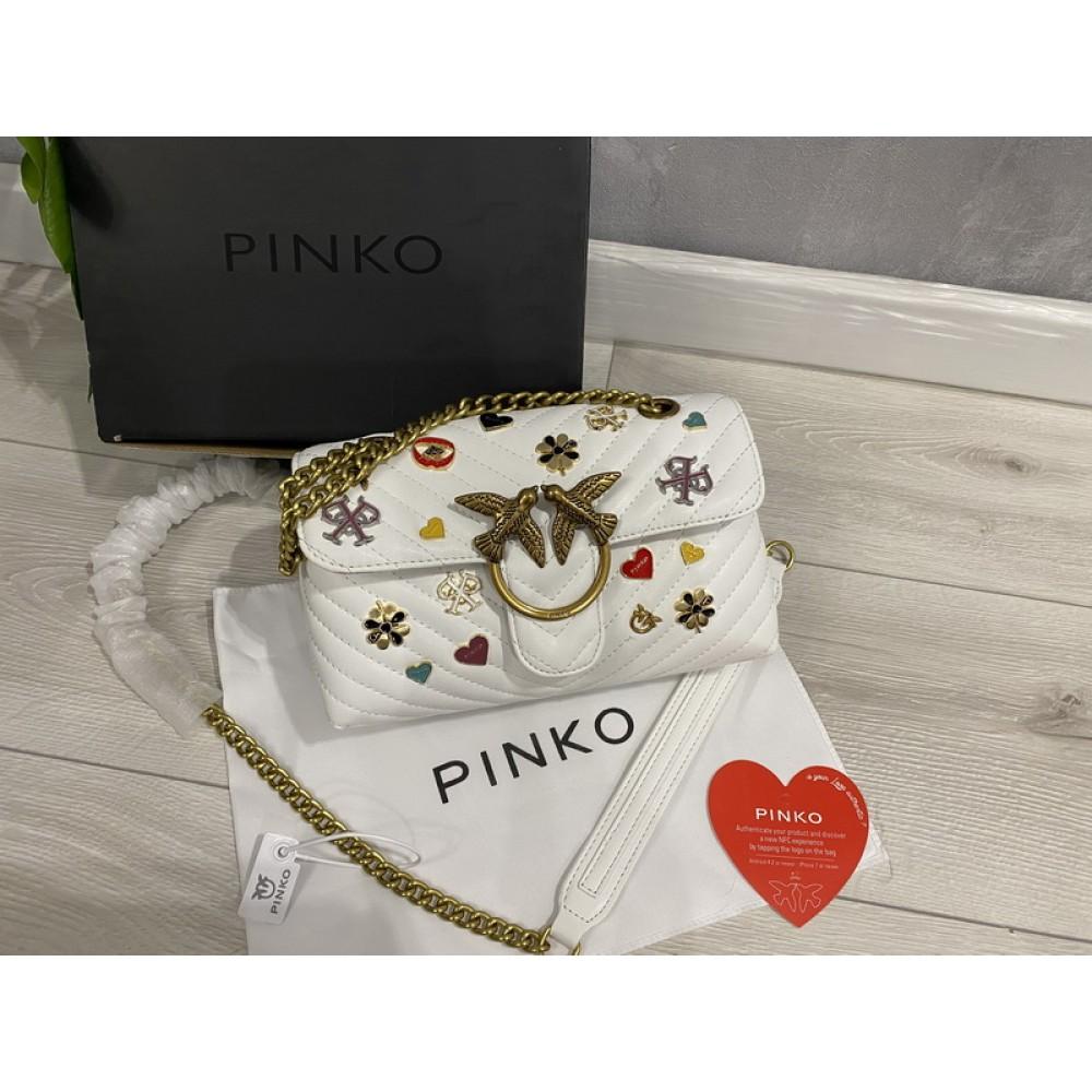 Сумка Pinko натуральная кожа белая арт 2205