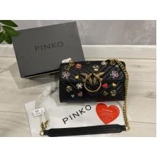 Сумка Pinko черная натуральная кожа  2206