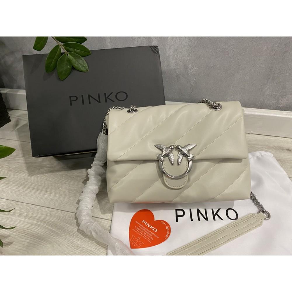 Сумка Pinko кожа в белом цвете 2208