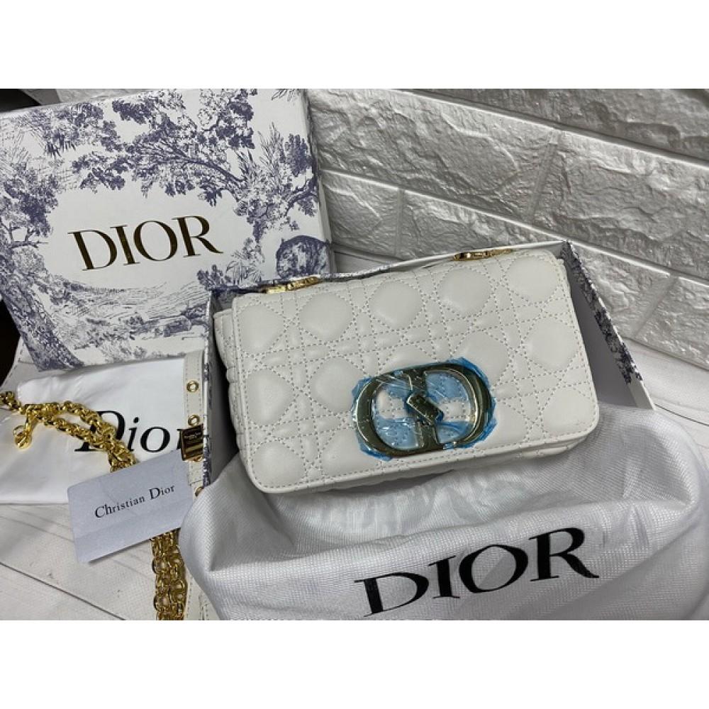 Изысканная сумочка Christian Dior реплика в белом цвете натуральная кожа арт 2225