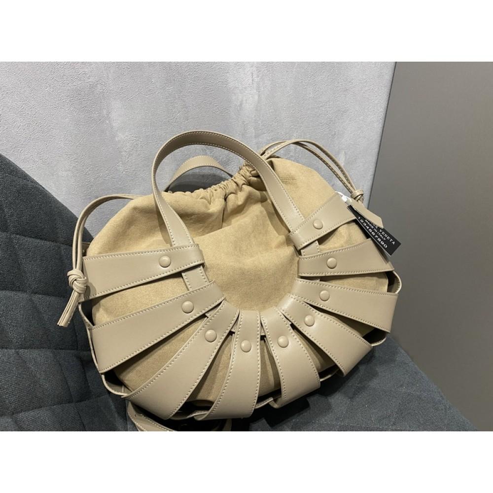 Стильная кожаная женская сумка в стиле Bottega Veneta арт 0777