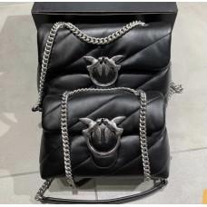 Pinko сумка натуральная кожа в черном цвете  реплика 2211