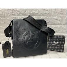Мужская кожаная сумка Armani 0260s