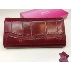 Стильный женский кошелек из натуральной кожи BALISA в красном цвете в подарочной упаковке арт 20178