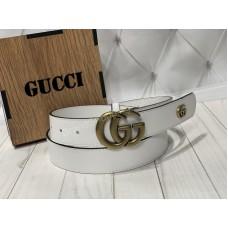Ремень Gucci белый в подарочной коробке арт 20274