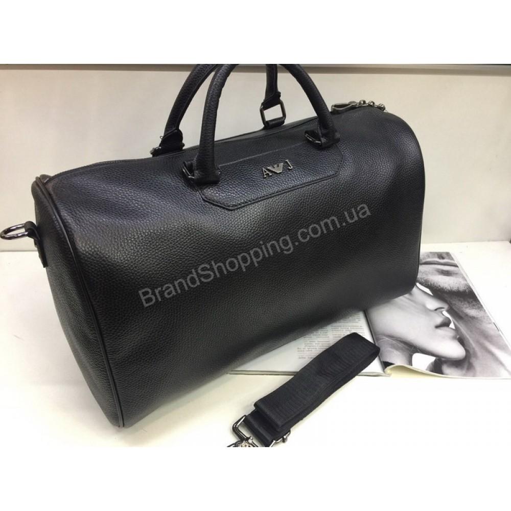 Спортивно-дорожная сумка Armani Jeans Lux из кожи 1833
