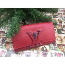 Брендовый кошелек Louis Vuitton Lux из натуральной кожи в брендовой коробке