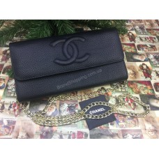 Стильный клатч-сумочка органайзер Chanel из натуральной кожи