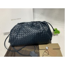 Стильная женская сумочка клатч Bottega Venetta в синем цвете  арт 20410