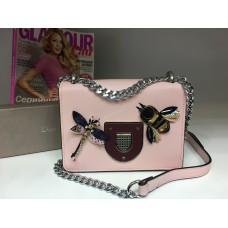 Женская брендовая сумочка Dior розовая 1201