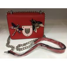 Женская брендовая сумочка Dior красная 1202