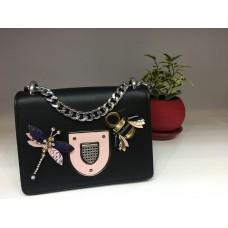 Женская брендовая сумочка Dior черная 1203