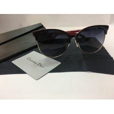 Солнцезащитные женские очки Dior черно-красные 1216