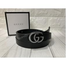 Ремень Gucci ширина 2см в черном цвете арт 20279
