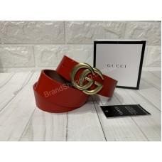 Ремень Gucci красный натуральная кожа в подарочной упаковке арт 20282