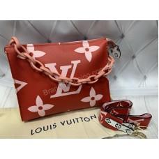 Сумка через плечо Louis Vuitton красно-розовая  арт 20422