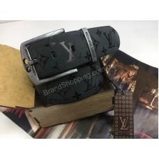 Шикарный ремень Louis Vuitton 4.5см из натуральной кожи в подарочной упаковке 1857