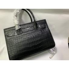 Женская сумочка YSL рептилия в черном цвете арт 20426