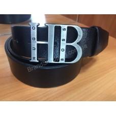 Кожаный ремень Hugo Boss 1051 ширина 4см