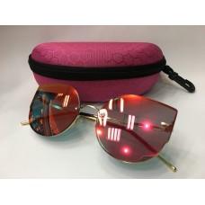 Солнцезащитные женские очки розовые 1245