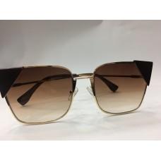 Солнцезащитные женские очки Fendi Lei коричневые 1255