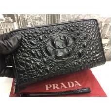 Клатч-кошелек из натуральной кожи под крокодил 1728