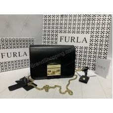 Сумка женская Furla черная реплика арт 21152