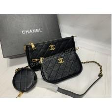 Сумочка Chanel 3в 1 в черном цвете арт21156