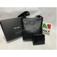 Мужская сумка Prada из натуральной кожи арт 21160
