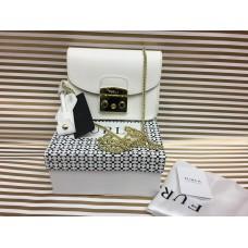 Кожаная женская сумочка Furla Lux белая 1267