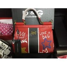 Эксклюзивная сумочка Dolce&Gabbana из натуральной кожи в полном люкс комплекте арт 20169