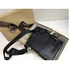 Кожаная мужская сумка Giorgio  Armani в подарочной упаковке 1754