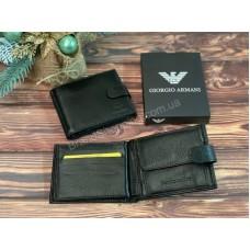 Мужской кошелек Armani из натуральной кожи арт 20212