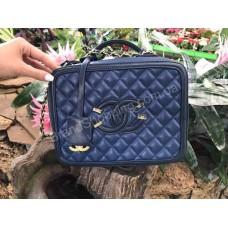Брендовая кожаная женская сумка 0231s blue