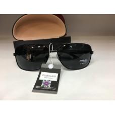 Солнцезащитные мужские очки поляризационные черные 1301