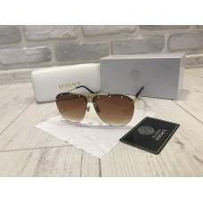 NEW 2018!!Очки солнцезащитные Versace цвет коричневый в полном комплекте 1757