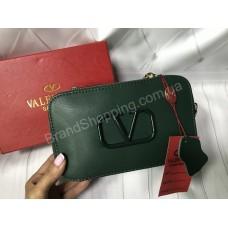 Сумочка Valentino реплика натуральная кожа в зеленом цвете арт 20512