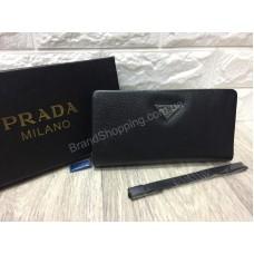 Кошелек -портмоне Prada из кожи в подарочной упаковке арт 20238