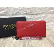 Кошелек Prada Lux в красном цвете арт 20242