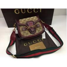 Брендовая сумочка Gucci Lux из натуральной кожи в коробке 1768