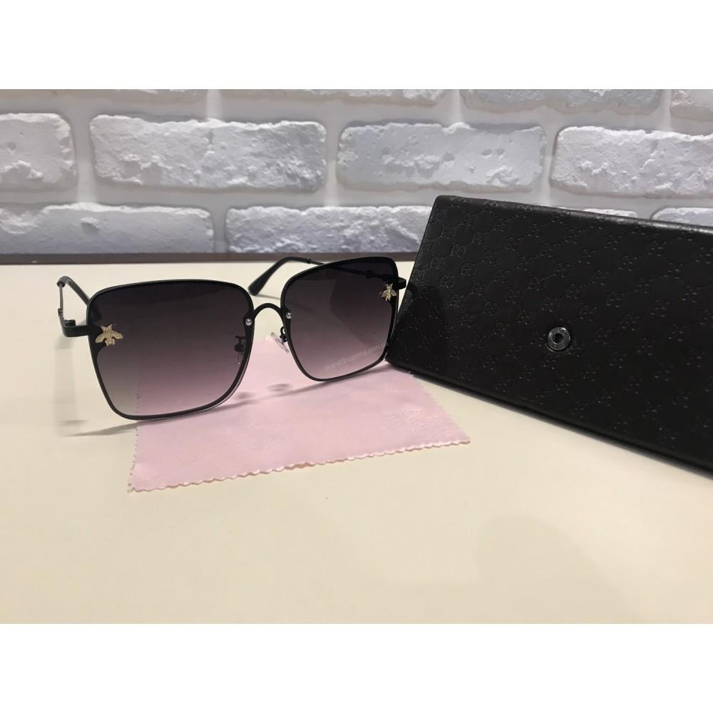 NEW 2018!!Очки солнцезащитные GUCCI цвет черный 1739