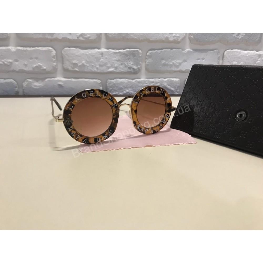 NEW 2018!!Очки солнцезащитные GUCCI  круглые коричневые 1740
