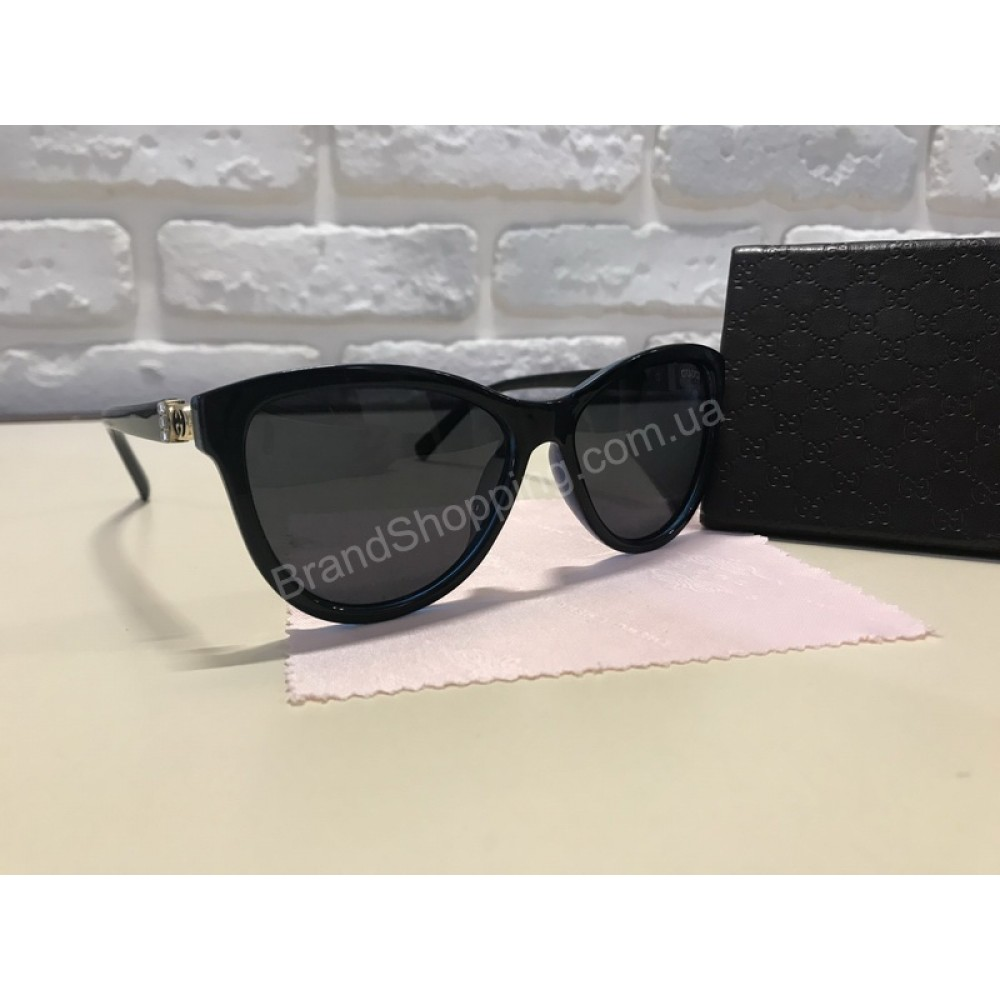 NEW 2018!!Очки солнцезащитные GUCCI комбинированные цвет черный и синий  1746