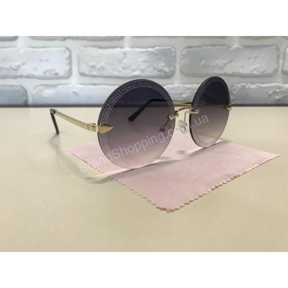 NEW 2018!!Очки солнцезащитные Versace круглые 1747