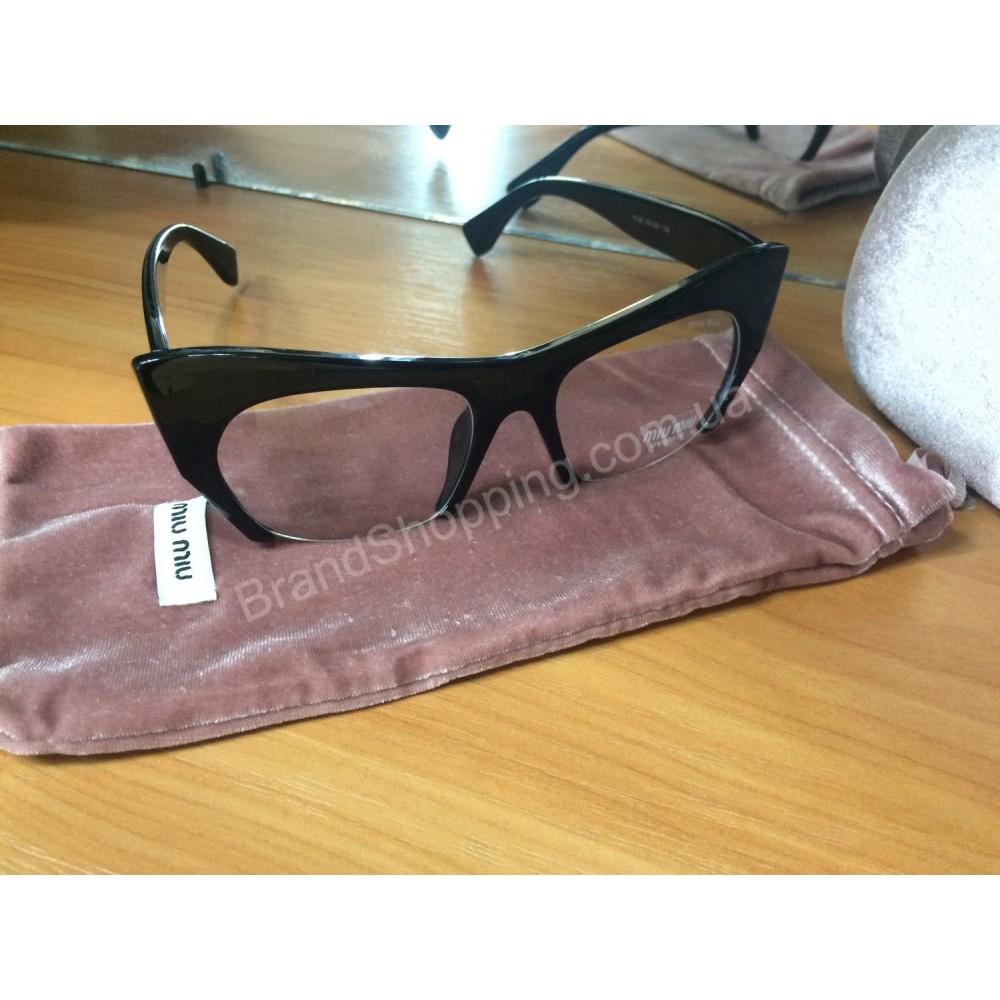 Ультрамодные очки Miu Miu с прозрачной линзой 0760