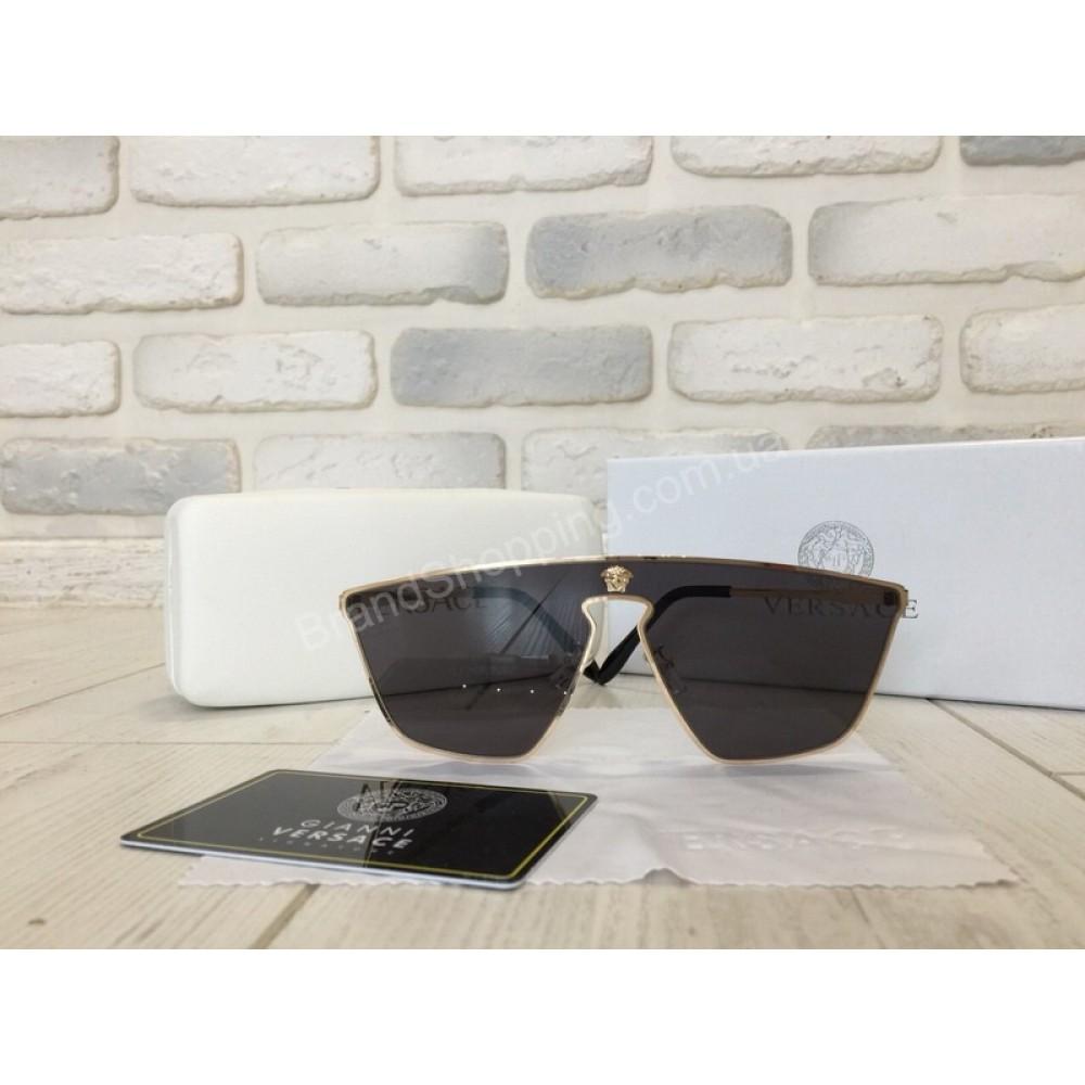 NEW!Солнцезащитные очки Versace в черном цвете  оправа металл 1717