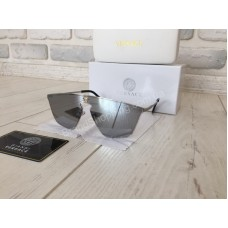 NEW 2018!Солнцезащитные очки Versace линза зеркало  оправа металл 1718