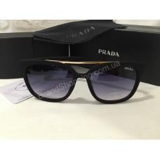 Солнцезащитные очки Prada Lux черные с матовой оправой 333O